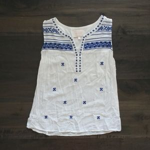 ⛅ skies are blue sleeveless blouse small